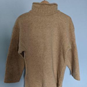Wool cream turtleneck sweater